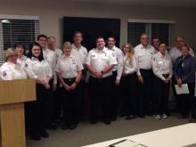 Squads 2017 Officers with Mayor Radest (John Staunton photo)