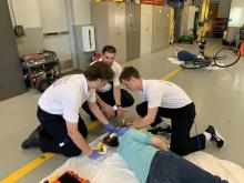 Summit First Aid Squad Junior Members treat a simulated patient