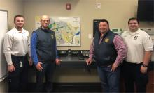 Summt PAL Visits Summit EMS dispatch room